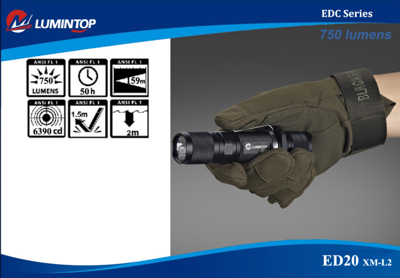 ED20 750lm XM-L2 LED EDC Flashlight - Lumintop Technology Co., Limited Russian distributor